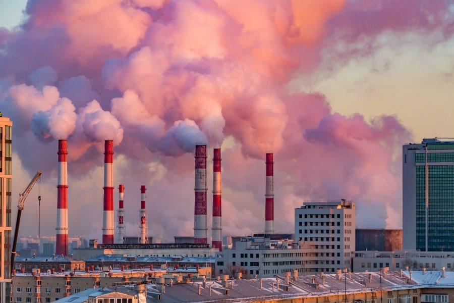 Выбросы парниковых газов в атмосферу